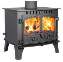 Hunter Herald 14 Double Sided Single Depth Multi Fuel Stove