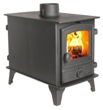 Hunter Hawk 4 Double Sided Double Depth Multi Fuel Stove