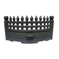 "18"" Castle Cast Iron  Fire Front / Fret Matt Black"