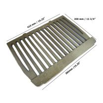 "18"" Dunsley Enterprise Cast Iron Fire Flat Grate Back Boiler"
