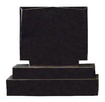 Flame 52 Flat Diamond Headstone + Sub Base + Base