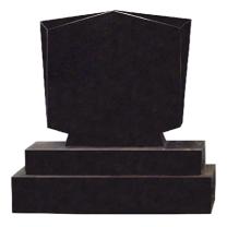 Flame 54 Diamond Top Headstone + Sub Base + Base