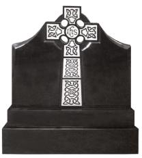 Flame 55 Celtic Gates Of Heaven Headstone + Sub Base + Base