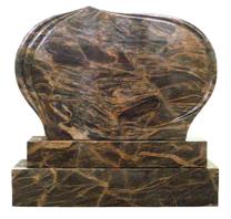 Flame 56 Oval Shell Headstone + Sub Base + Base