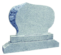Flame 58 Carved Rose Oval Headstone + Sub Base + Special Base