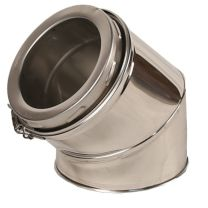 """45 Degree Elbow Bend - 5"""" Twin Wall Flue Pipe [125mm]"""