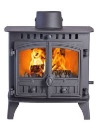 Hunter Herald 6 Double Sided Double Depth Flat Top Multi Fuel Stove