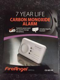 FireAngel CO-9XT-FF Carbon Monoxide Alarm 7 Year Warranty Fast Fit Bracket