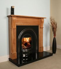 Irish Corbel Oak Fireplace
