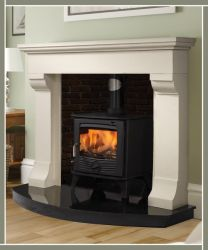 Florence Marble Fireplace Ivory Cream