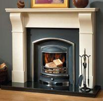The Modern Dublin Marble Fireplace Milan Cream