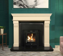 The Bordeaux Marble Fireplace Surround Ivory Cream
