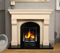 The Hillsborough Marble Fireplace Surround Ivory Cream