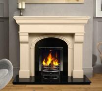 The Hillsborough Marble Fireplace Surround Ivory Cream