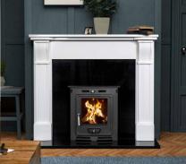 The Paros Ripon Marble Fireplace Surround Polished Polar White