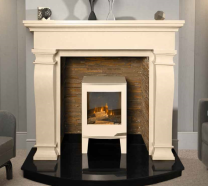 The Ravelle Marble Fireplace Surround Ivory Cream