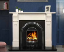 The William Marble Fireplace Surround Sorrento White