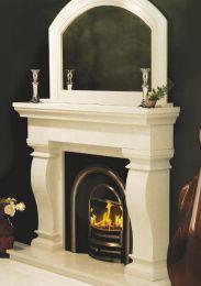 Van Gogh Marble Fireplace Ivory Cream