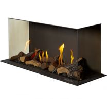 Waterford Stanley Argon I500 Panoramic 3 Sided Gas Fire