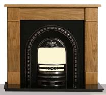 The Arlington Solid Oak Wooden Fireplace