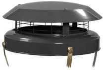 High Top Chimney Cowl Bird Guard Black