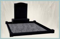 Granite Kerb + Post For Grave