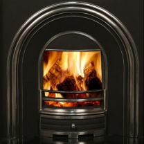 The Mourne Insert Arch Cast Iron Back Panel