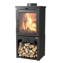 Henley Oakwood Mini 3.9kw Wood Burning Stove + Log Store SALE SALE