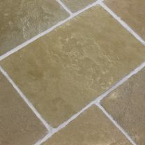 Antique Olive Sand Limestone Flagstone Tiles Hand Cut Edges Stone Flooring