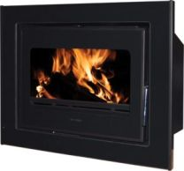 Vitae 5kW Landscape Cassette Wood Burning Stove + Glass Frame
