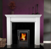 The Antoinette Marble Fireplace Surround Polished Polar White
