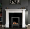 The Cruz / Oslo Marble Fireplace Surround Polished Polar White