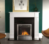 The Naxos Marble Fireplace Polished Polar White