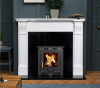 The Paros Ripon Marble Fireplace Surround Polished Polar White